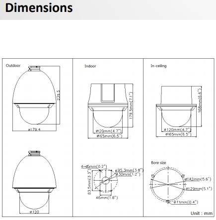 DS-2AE4223T-A3-Dimensions