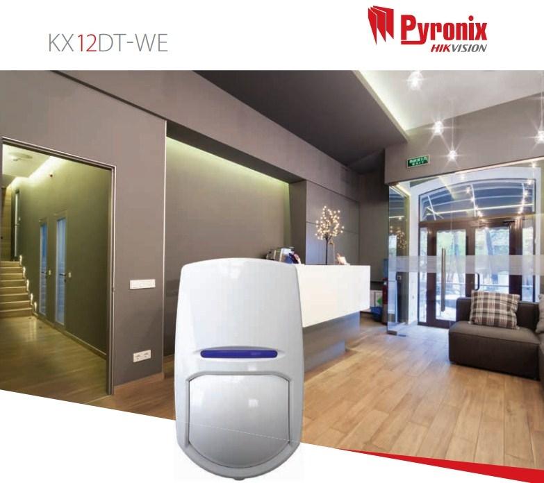 Pyronix KX12DT-WE Dual Technology Enforcer 12m PIR Sensor Wireless Volumetric Detector