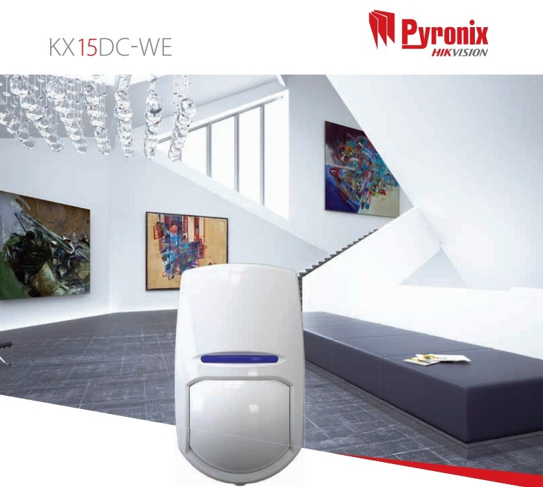Pyronix KX15DC-WE Enforcer 15m PIR Sensor Wireless Curtain Detector