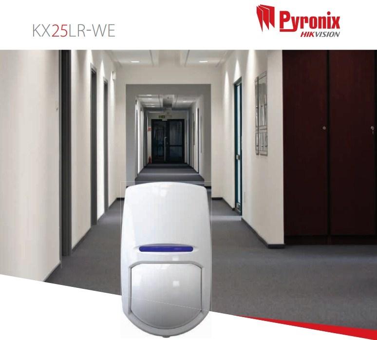 Pyronix KX25LR-WE Enforcer 25m PIR Sensor Wireless Long Range Curtain Detector
