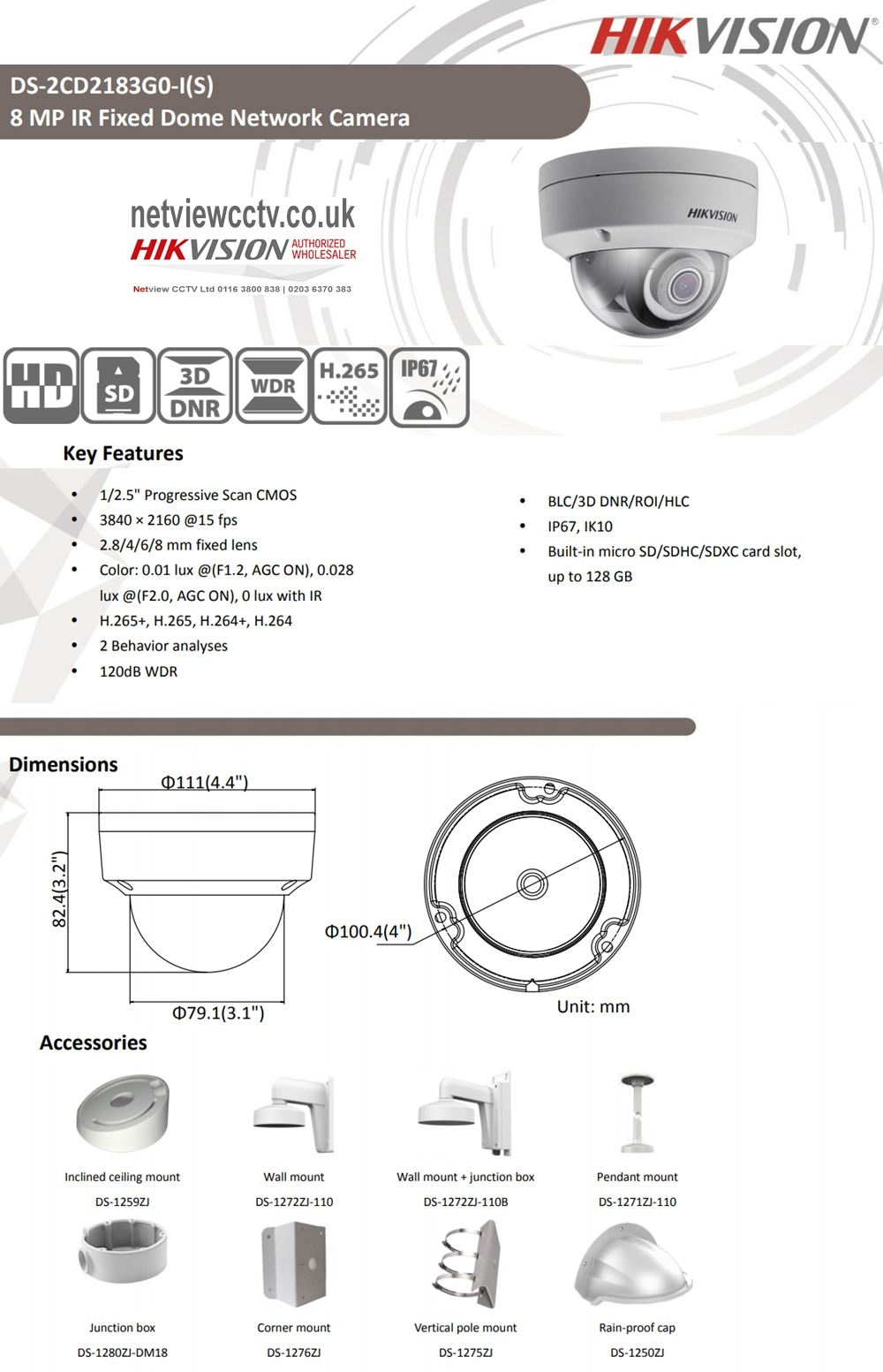 Netview Cctv 8mp Ds 2cd2183g0 I Hikvision 4mm 79 H 265 Block Diagram Questions