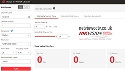 Hikvision Storage & Network Calculator