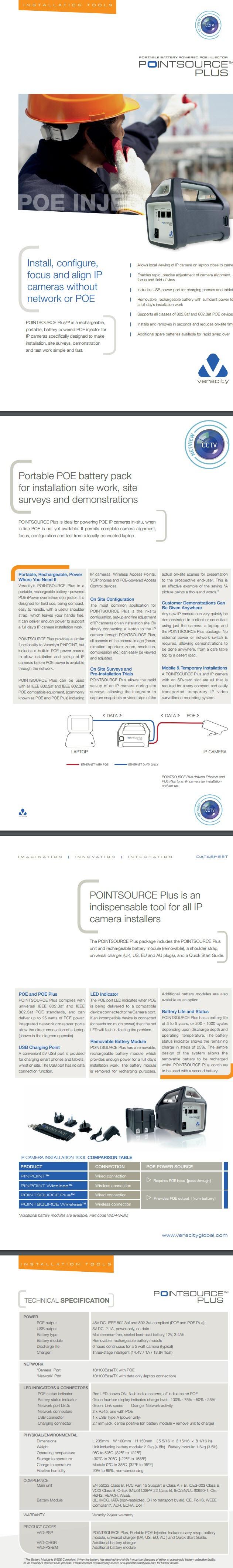 Veracity Pointsource Plus Datasheet